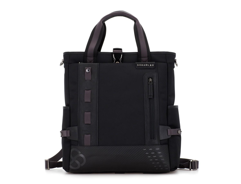 Bolso convertible en mochila negro frontal