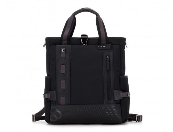 laptop bag and backpack black front