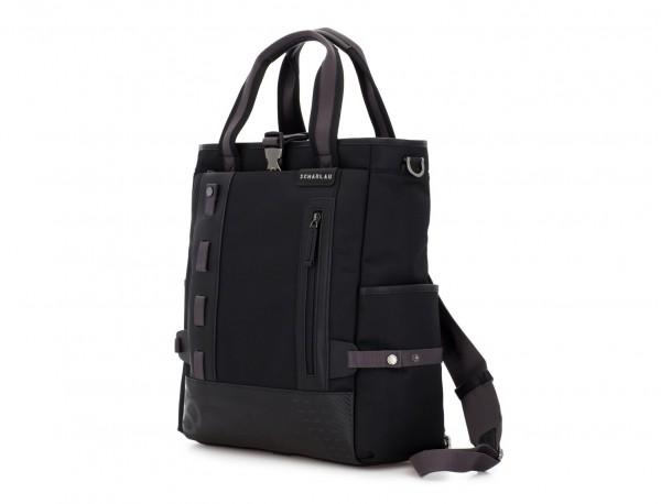 Bolso convertible en mochila negro lado