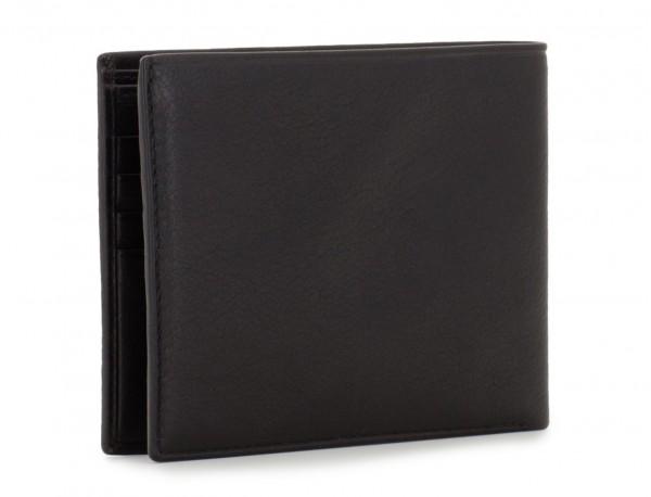 portafoglio in pelle nero per uomo side