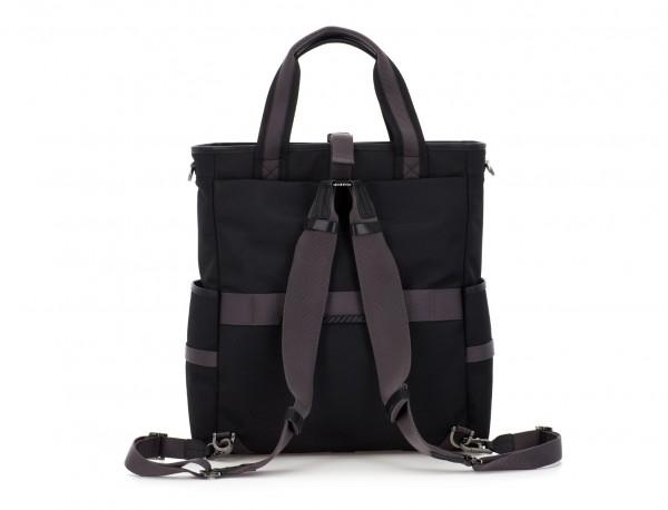 laptop bag and backpack black back