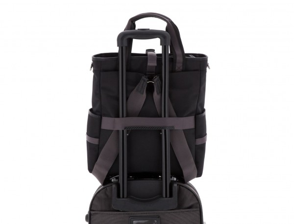 laptop bag and backpack black trolley