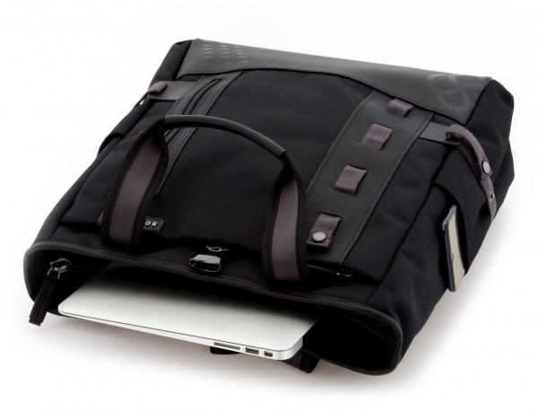 Borsa convertibile in zaino nero laptop