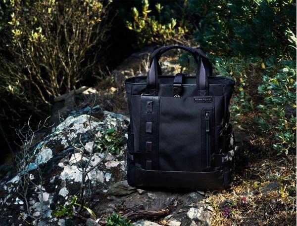 laptop bag and backpack brown model