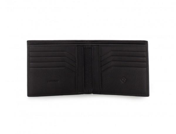 portafoglio in pelle nero per uomo open