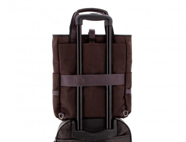 Bolso convertible en mochila marrón trolley