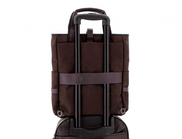 laptop bag and backpack brown trolley
