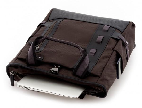 Bolso convertible en mochila marrón laptop
