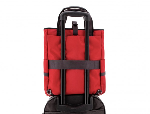 laptop bag and backpack red trolley