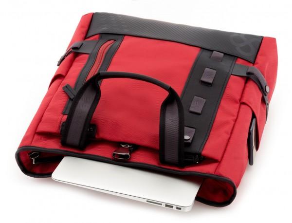 Borsa convertibile in zaino rosso laptop
