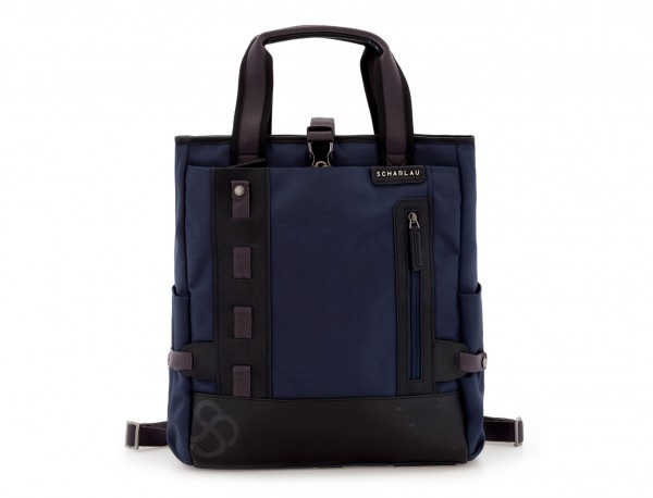 laptop bag and backpack blue front