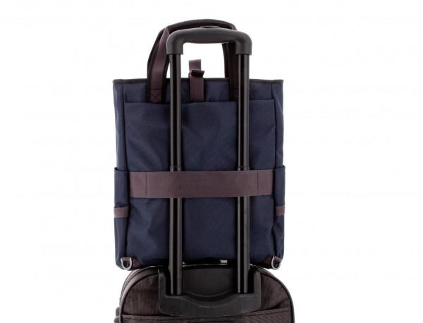 Bolso convertible en mochila azul trolley