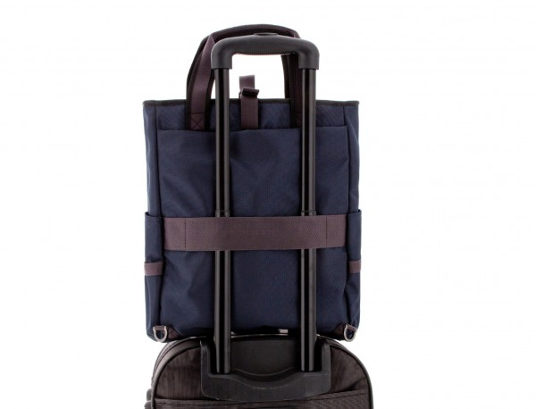 laptop bag and backpack blue trolley