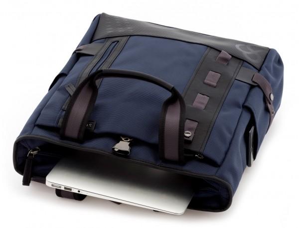 laptop bag and backpack blue inside