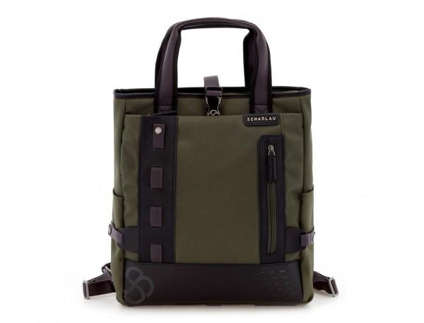 Bolso convertible en mochila verde frontal