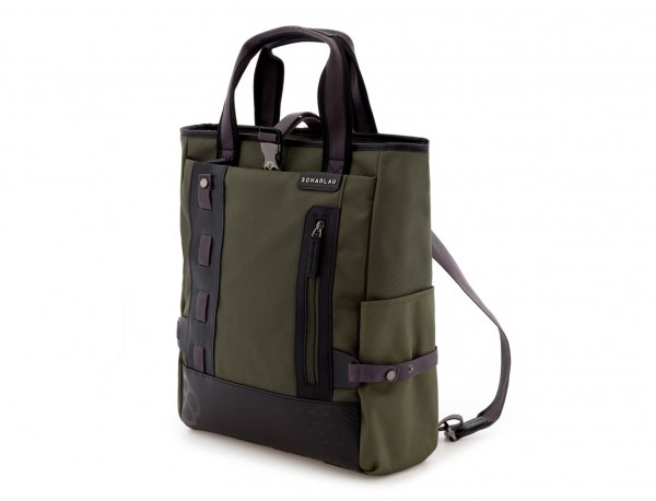 laptop bag and backpack green side