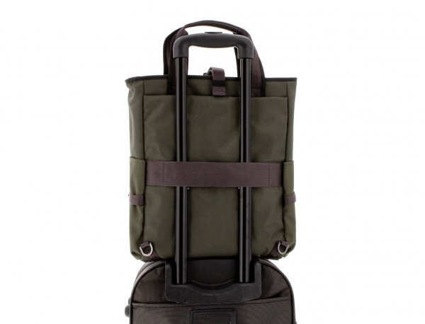 laptop bag and backpack green trolley
