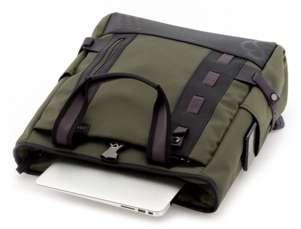 Bolso convertible en mochila verde ordenador