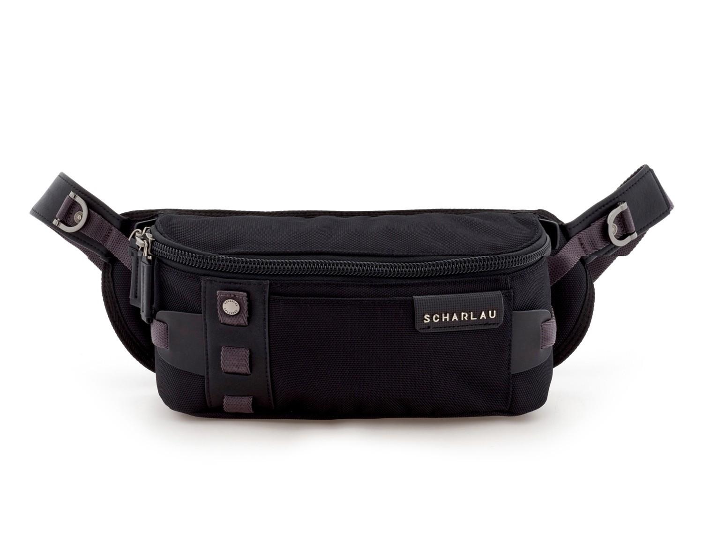 men waist bag black front