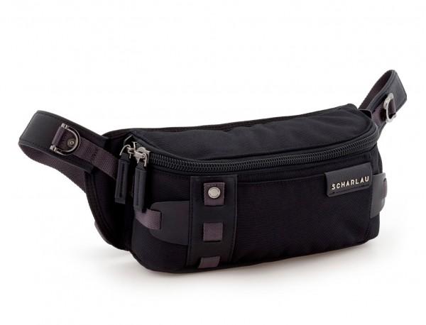 men waist bag black side