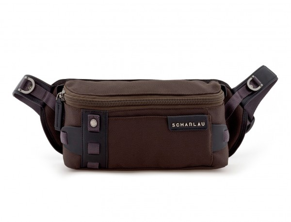 men waist bag brown front