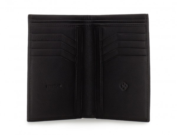 leather wallet for men black open