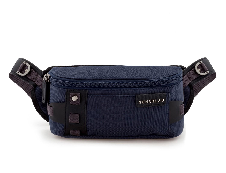 men waist bag blue front
