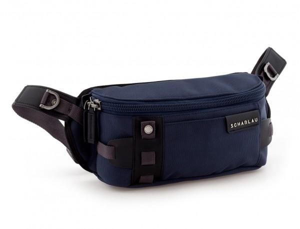 men waist bag blue side