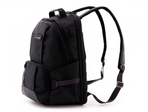 mochila de nylon negra lateral