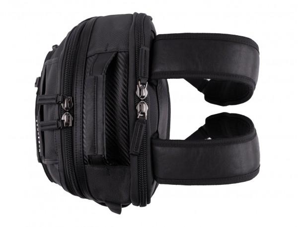 mochila de nylon negra asas