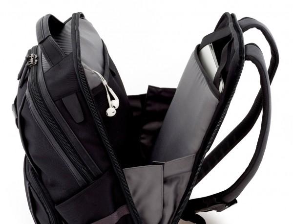 mochila de nylon negra ordenador