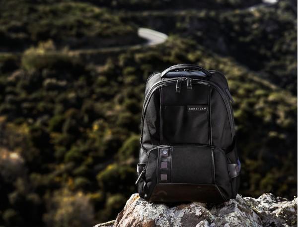 nylon backpack brown model