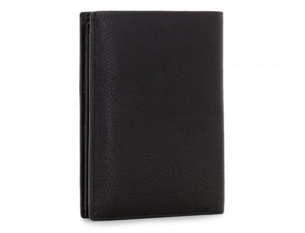 vertical leather wallet for men black side