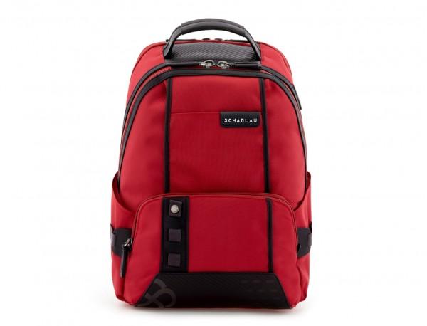 mochila de nylon roja perfil