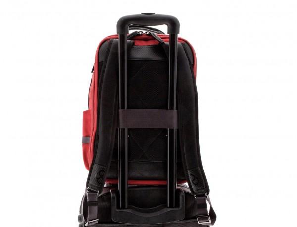 mochila de nylon roja trolley