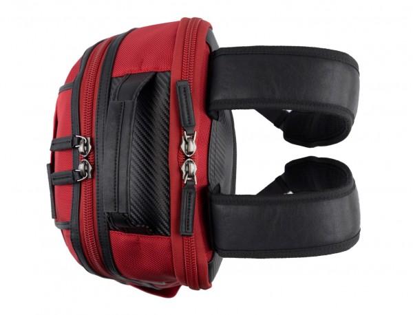 mochila de nylon roja asas