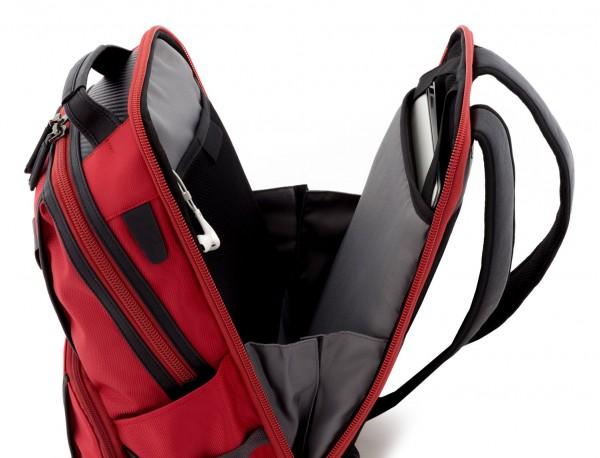 mochila de nylon roja ordenador