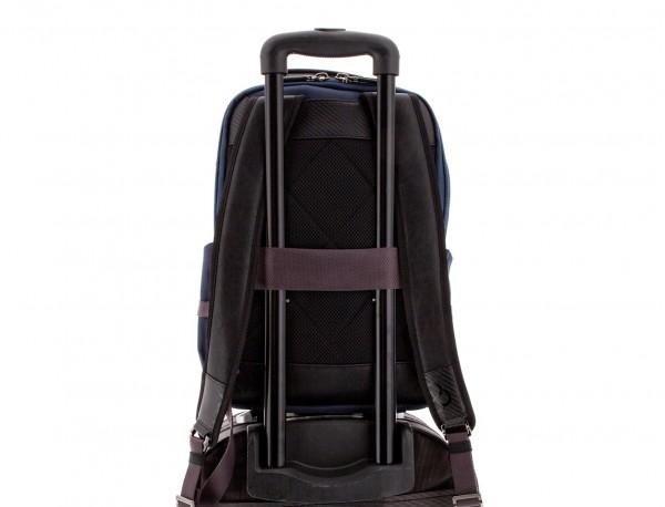 mochila de nylon azul trolley