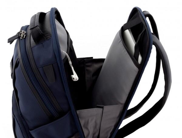 mochila de nylon azul portátil
