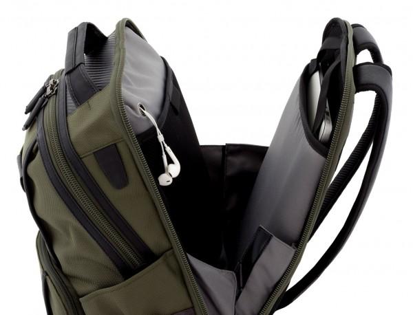 mochila de nylon verde ordenador