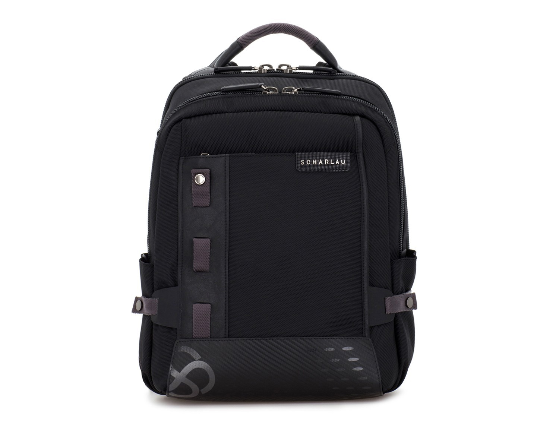 mochila para ordenador negra frontal