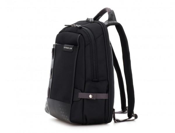 mochila para ordenador negra  lado
