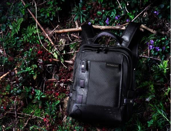 mochila para ordenador negra  modelo