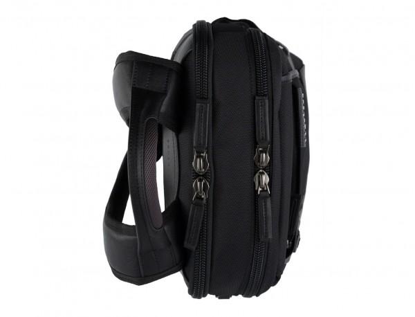 mochila para ordenador negra  perfil