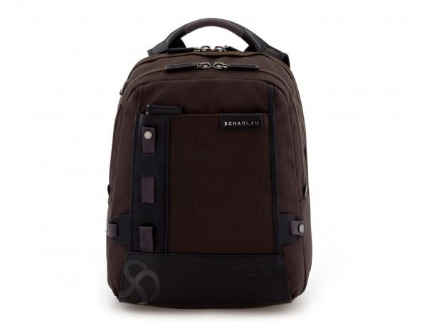 mochila para ordenador marrón frontal