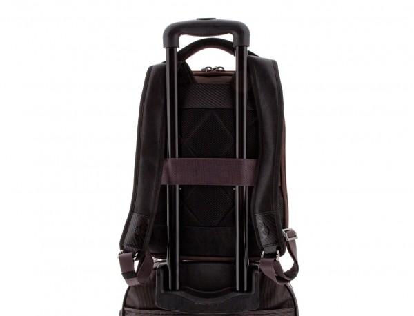 mochila para ordenador marrón trolley