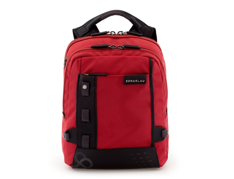 mochila para ordenador roja perfil
