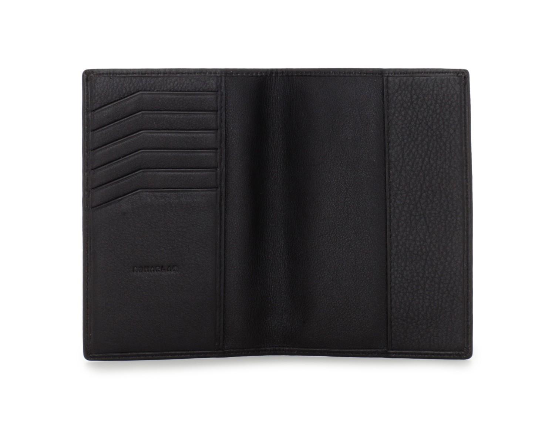 porta passaporto in pelle nero open