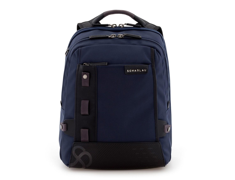 mochila para ordenador azul frontal