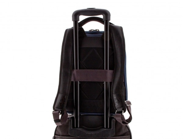 nylon backpack blue trolley
